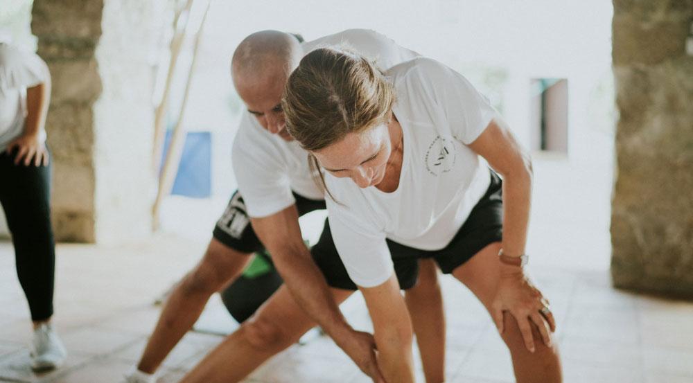 Sesión de fitness con David Usandizaga